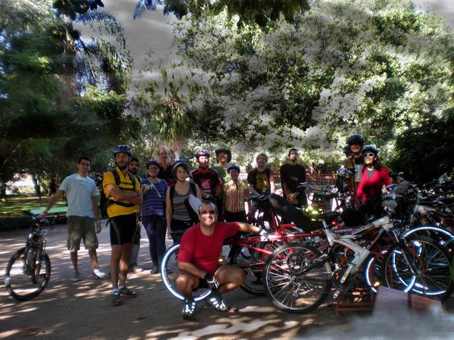 Bicicletantes no Parcão