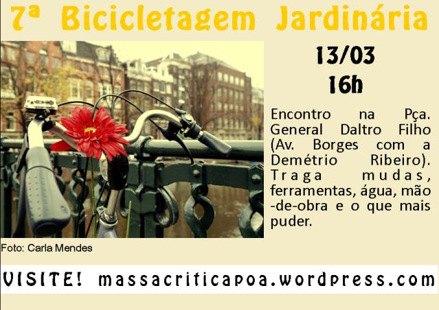 7ª Bicicletagem Jardinária